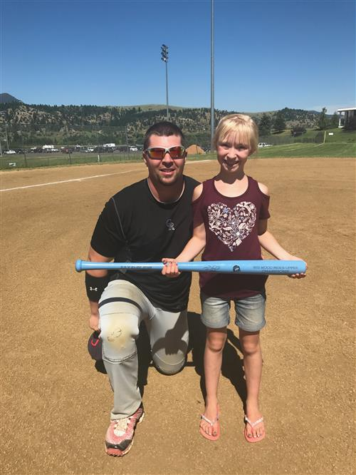 Wood Bat Tournament with my Daughter